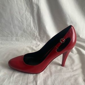 """Enzo Angiolini Size 9M Leather Red Pumps Heel 4"""""""